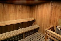 Sauna for guest use