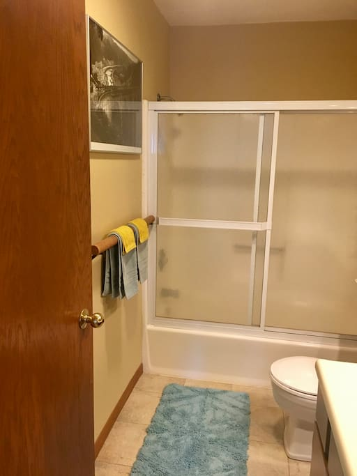 Guest bathroom is across the hall from your bedroom, just for you!