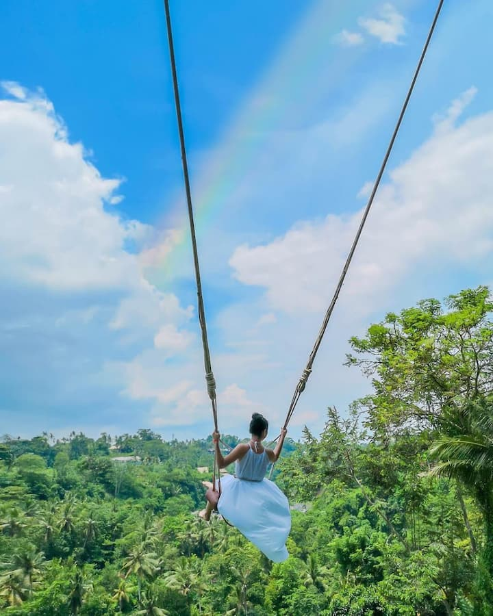 Bali Swing with jungle view