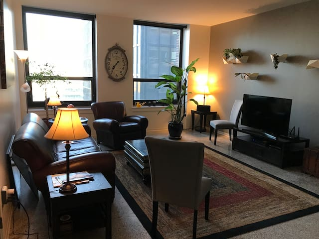 Living Room with fantastic view of the State Capital.