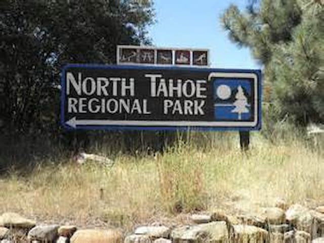 North Tahoe Reg'l Park has winter activities like big big sled hill, snowmobile rentals, X Country trails, summer has tennis courts, par course, ball fields, hiking and biking trails, playground and picnic areas, ropes course