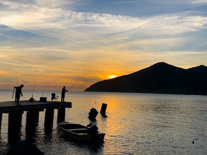 Porto Amarelo, casa vagón a pasos del Mar Caribe