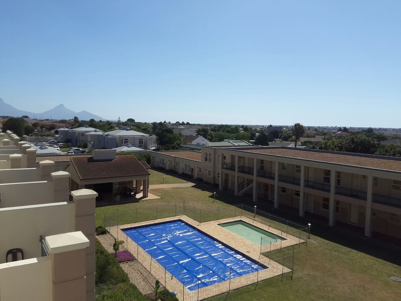 View of Pool and Surrounds from Balcony