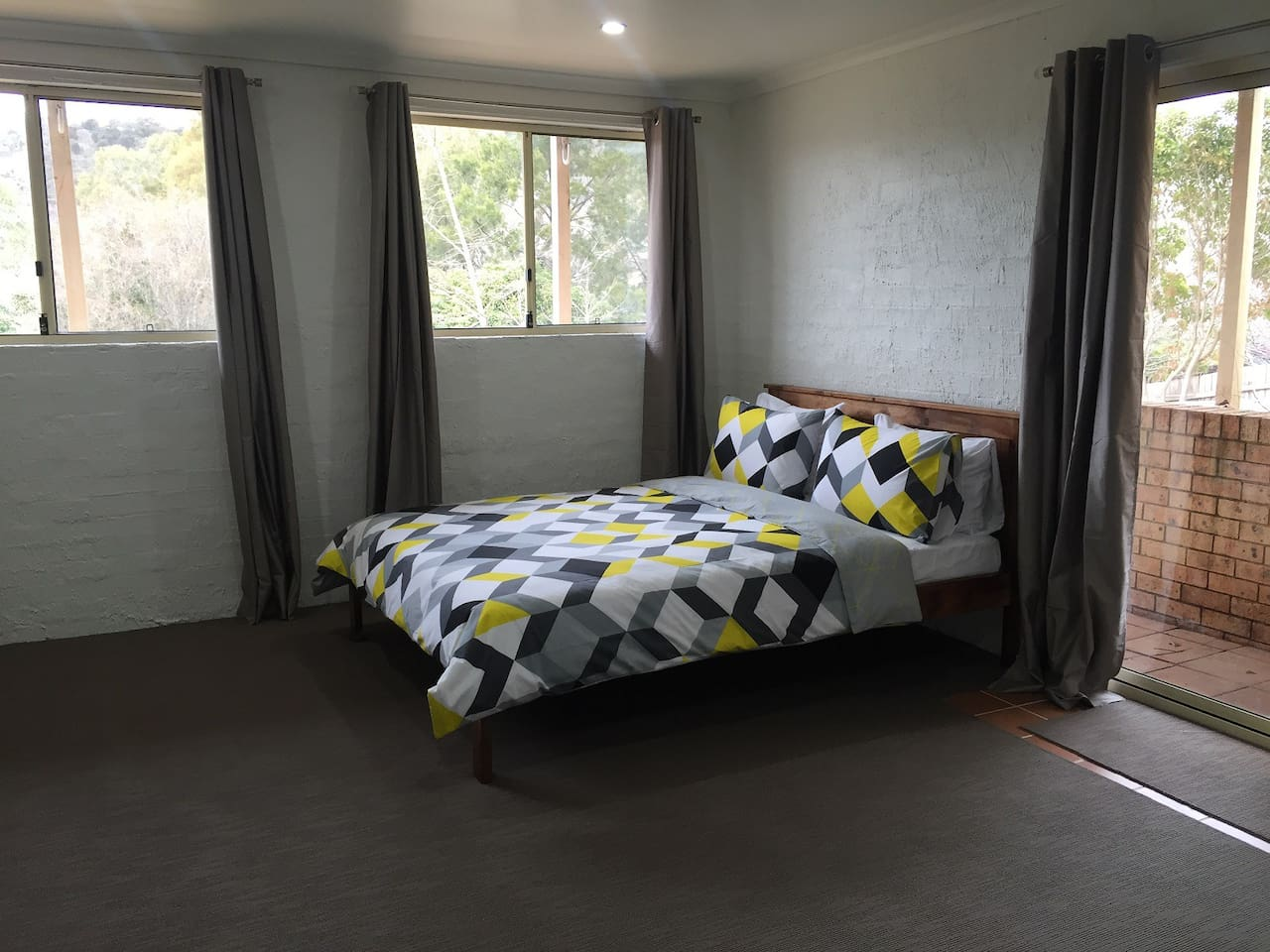 Bedroom - Private access with Queen Bed