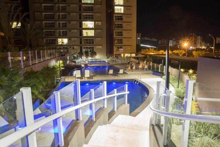 Evian Thermas Residence c/piscinas aguas termais
