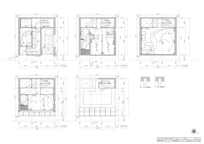 House floor plan. Total area 180SQM + roof garden. 4 bedrooms including Japanese style tatami room.