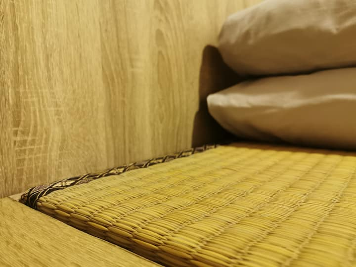 Japanese Mini Tatami Female Room |Shared Bath