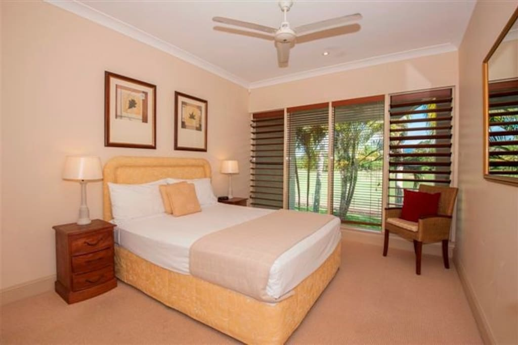 Bedroom 2 with golf course views