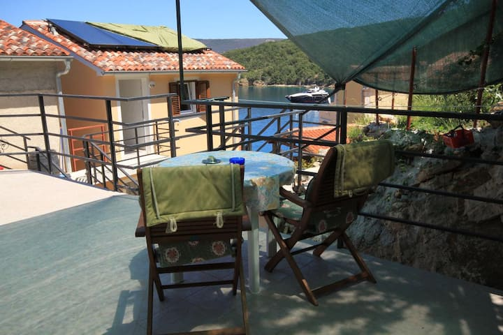One bedroom apartment with terrace and sea view Valun, Cres (A-8086-d)