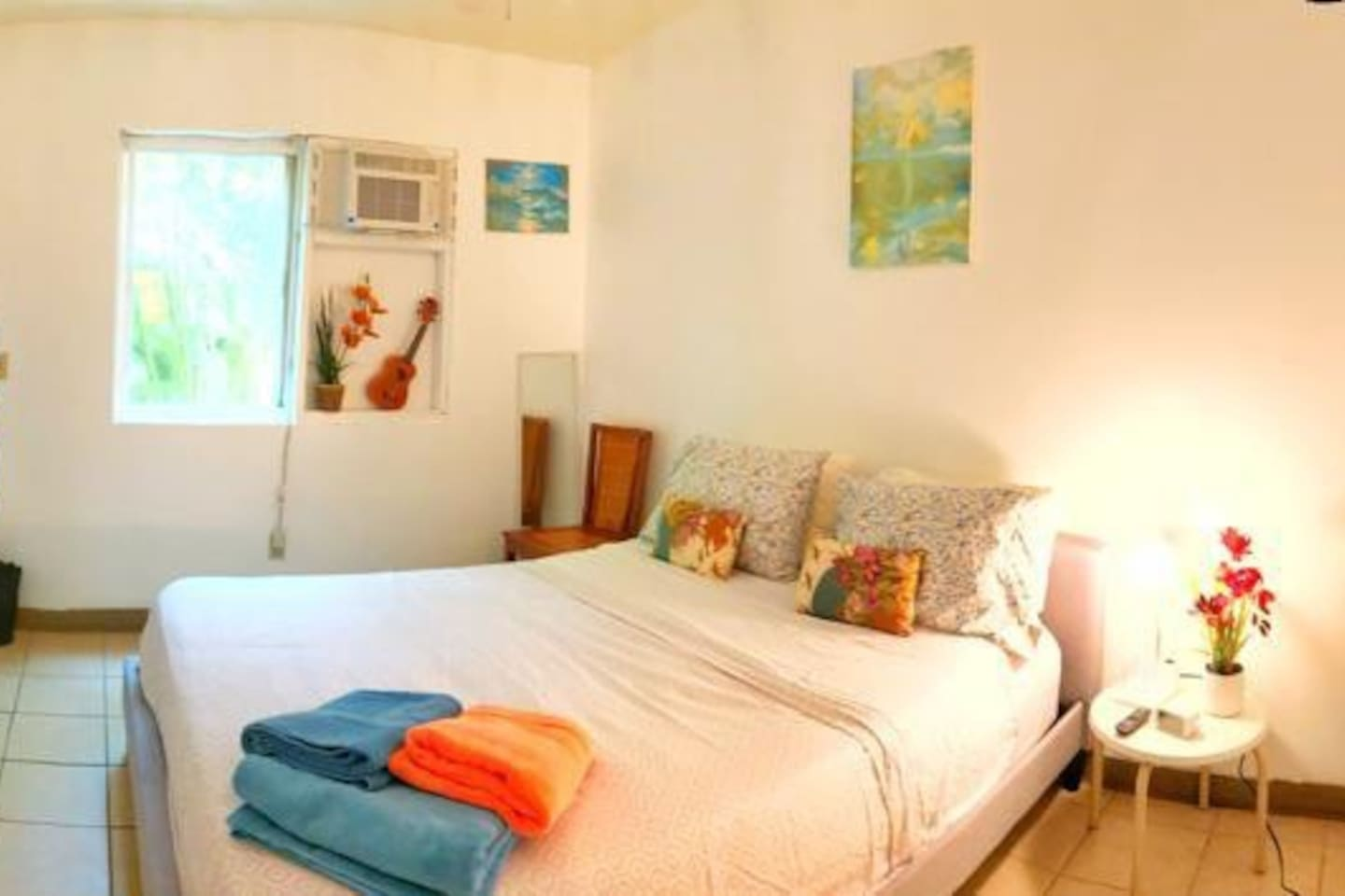 Your beautiful peaceful private room ,queen size top of the line mattress brand new air conditioner /smart tv YouTube..