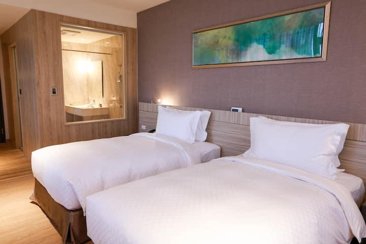 新竹安捷國際酒店-安捷雙床房