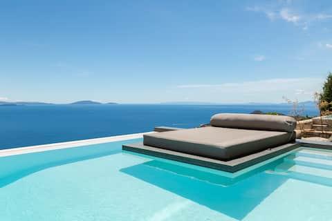 Olon Villa with Private Pool & Panoramic Sea view