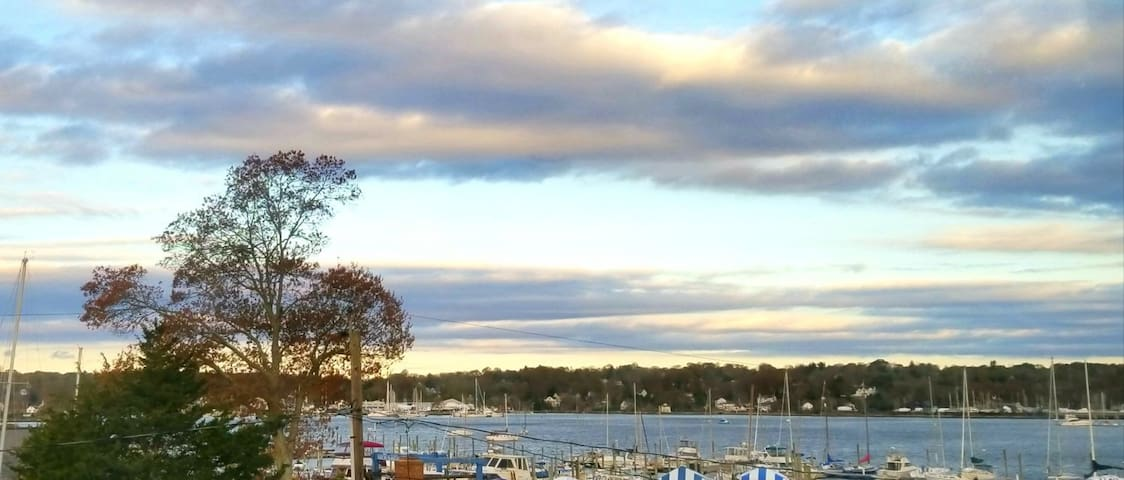 Mystic/Stonington - Sweeping Water and Town View