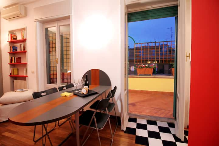 Tiepolo Romantic Terrace Art Apartment