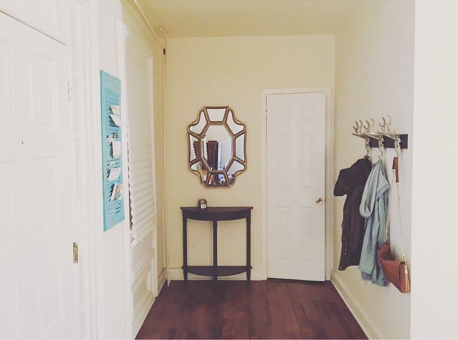 Front entrance with coat rack