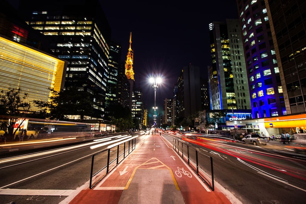 The iconic Paulista avenue, just 10 minutes walk
