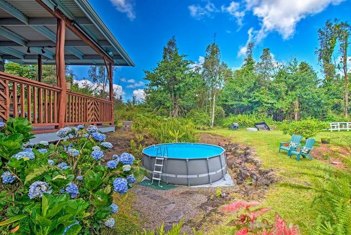 Keaau Apartment on Beautiful Acre w/ Pool & Deck!