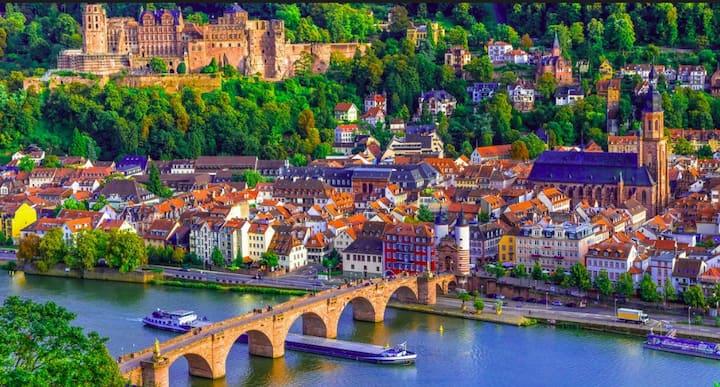 Idyllisch Terrassenwohnung  im Grünen/Heidelberg