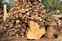 A mighty log pile.