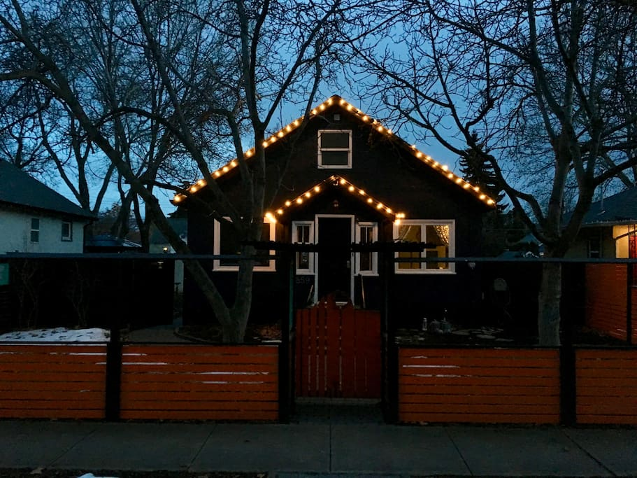 Cozy home on Kelowna's Best Block (officially rated by the city in 2013). Yep, Christmas lights year round sounded like a good idea.