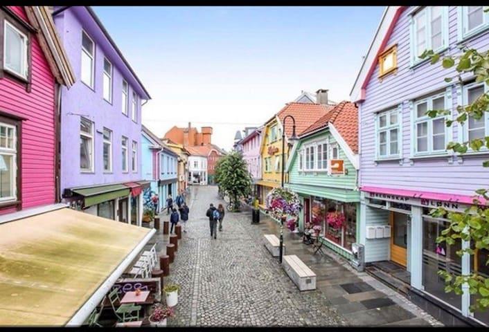 Silent street, downtown Stavanger