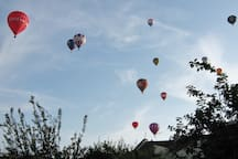 Air balloons over the house