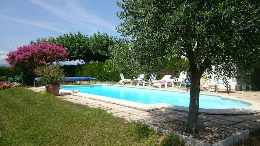 maison campagne piscine,verger,parc - Anneyron - House