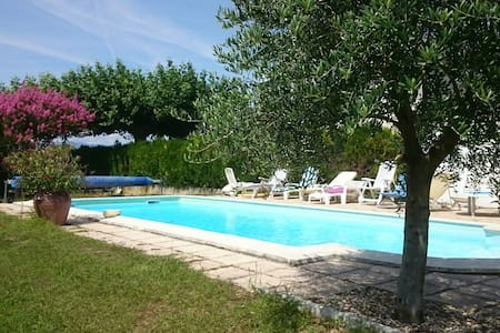 maison campagne piscine,verger,parc - Anneyron - Huis