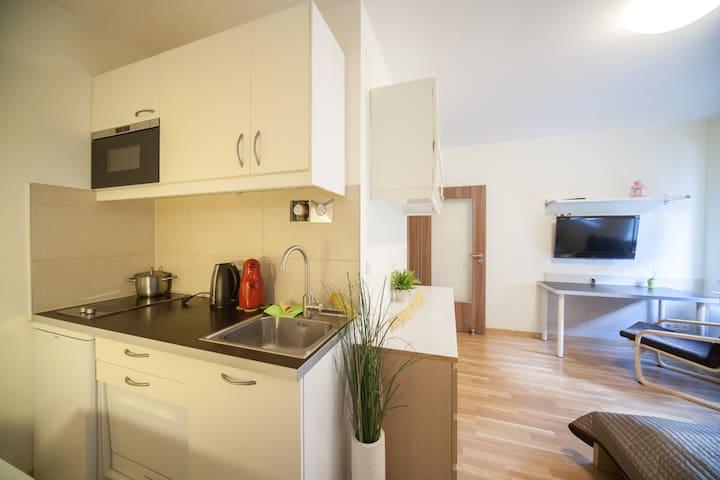 Küche (Nische) im Wohnzimmer