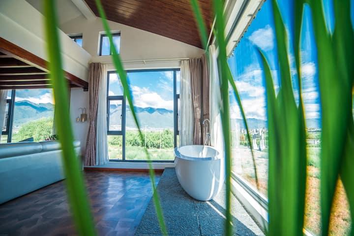 洱海边静谧花园阳光复式亲子房(60平)花境庭院 露台观苍山洱海 花园早餐  可观日出