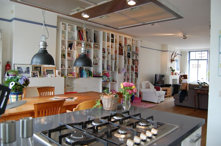Spacious family apartment with rooftop balcony - Amsterdam - Flat