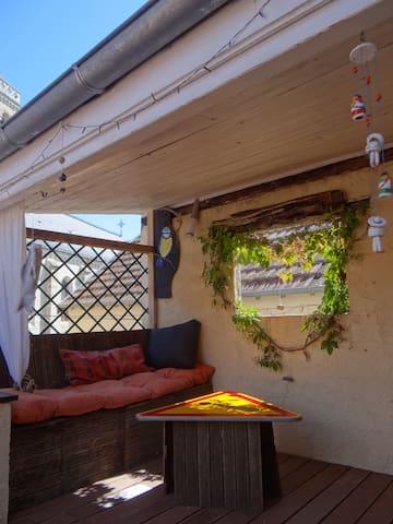 Grand appartement lumineux avec terrasse