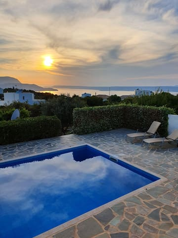 Crete, Villa Bente with stunning seaview.