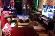 * Sofa Bed  for Comfortable lay and sitting   * 55 led Smart 3D LG TV