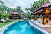 Our pool perfect for sunbathing in the morning or chilling in the afternoon