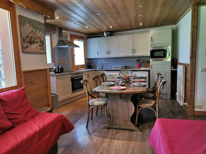 Nice apartment with large living area, ski in and out