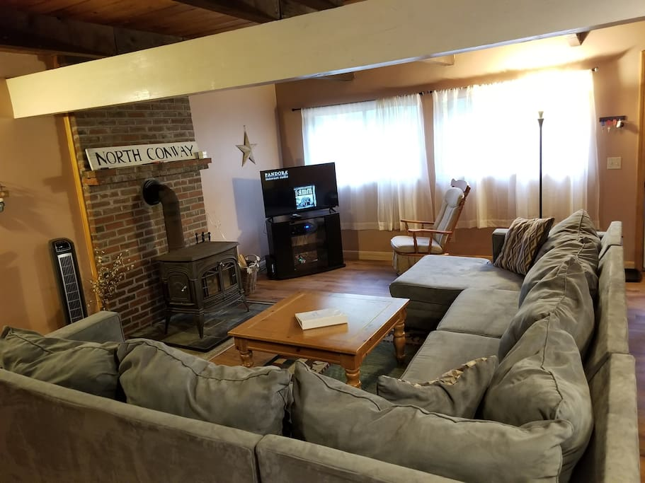 Enjoy the wood stove, tv with cable, free wifi, and large sectional.