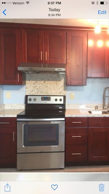 Brand New Stove/Granite counter-top