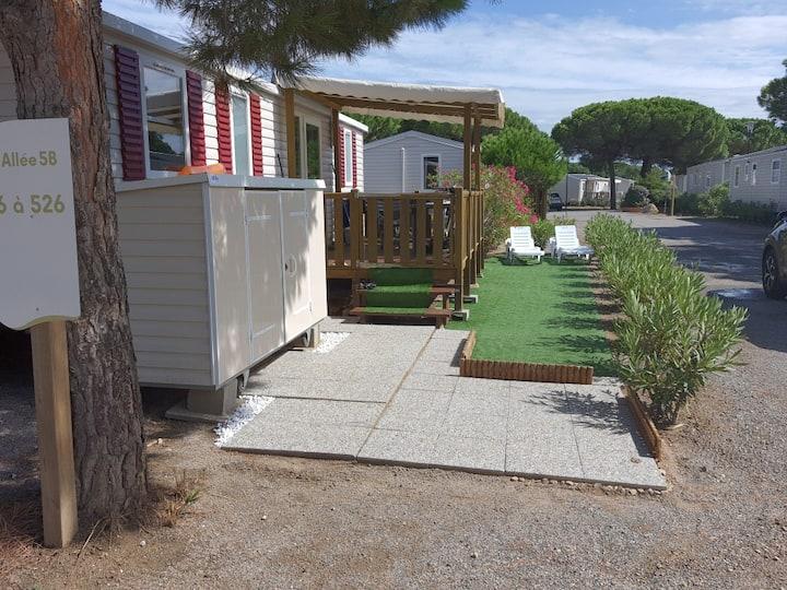 Mobil home Canet plage 66140 côté Perpignan