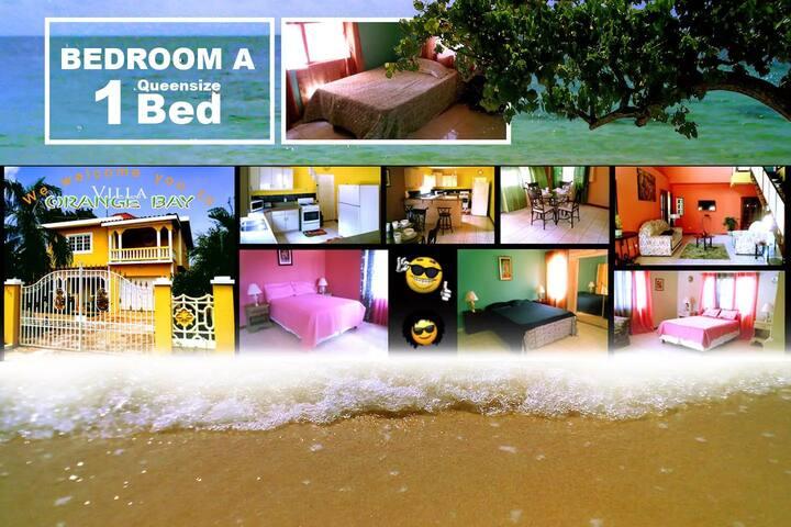 Villa Orange Bay - Bedroom A (Queensize Bed)
