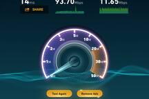 Fast WIFI internet.