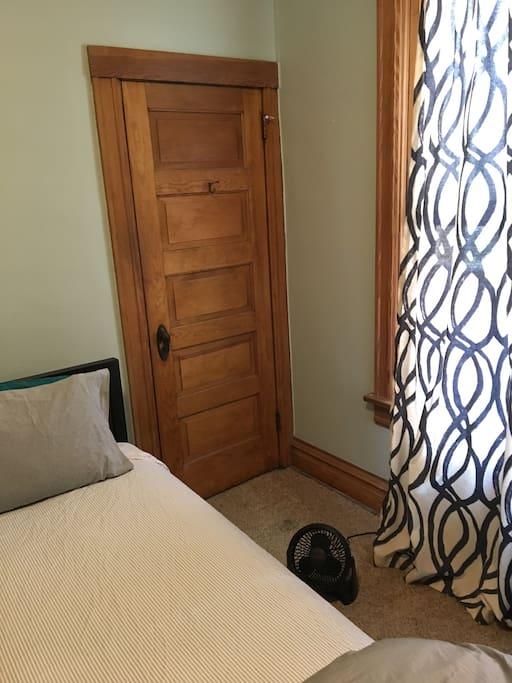 Closet and window