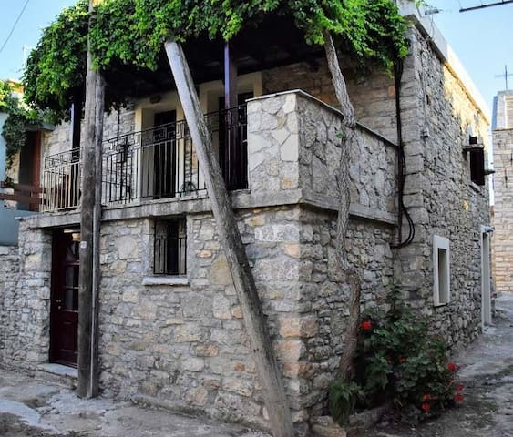 Stone house in Sidirounda, Chios.