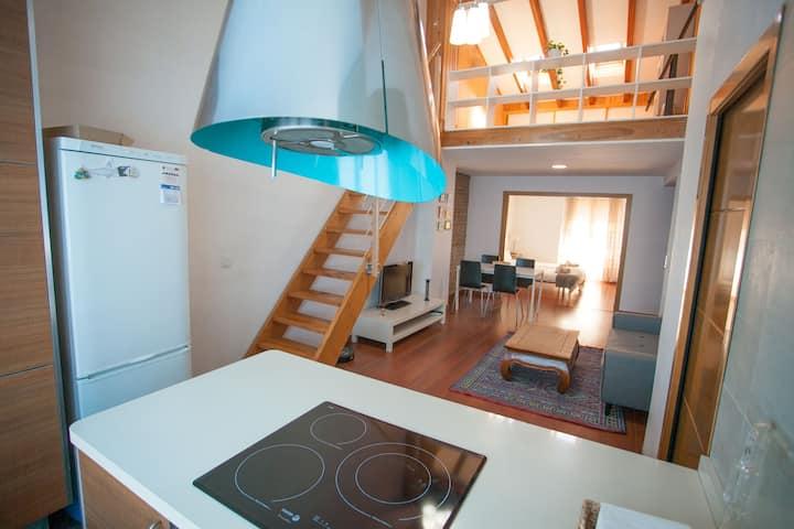 Apartamento tipo loft muy céntrico y acogedor.