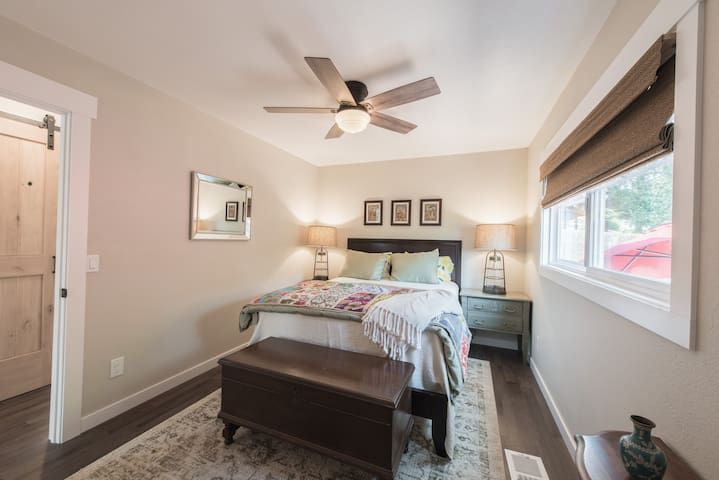 The 2nd bedroom boasts lots of natural light.