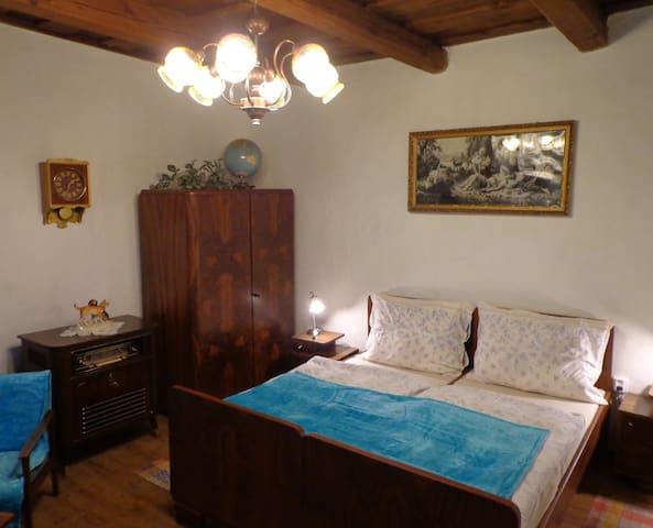 ROOM IN 60s STYLE - DOUBLE BED /POKOJ VE STYLU 60.LET - MANŽELSKÁ POSTEL