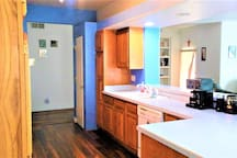 Shared Access to Full Kitchen if need (Passed the Sliding Doors, to the right)