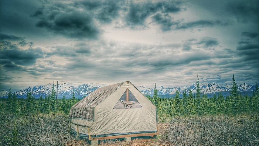 Rustic Canvas Tent Experience in Denali