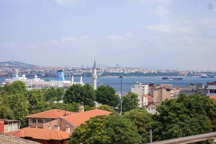 Private Apartment w Bosphorus&Hist. Peninsula View