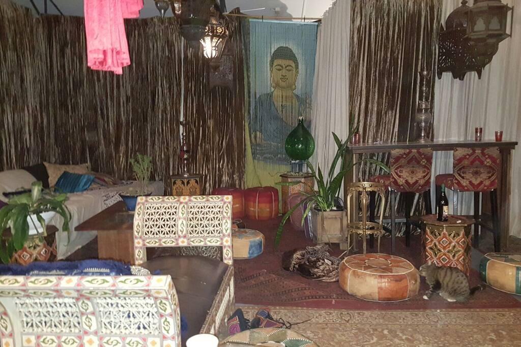 open plan moroccan lounge